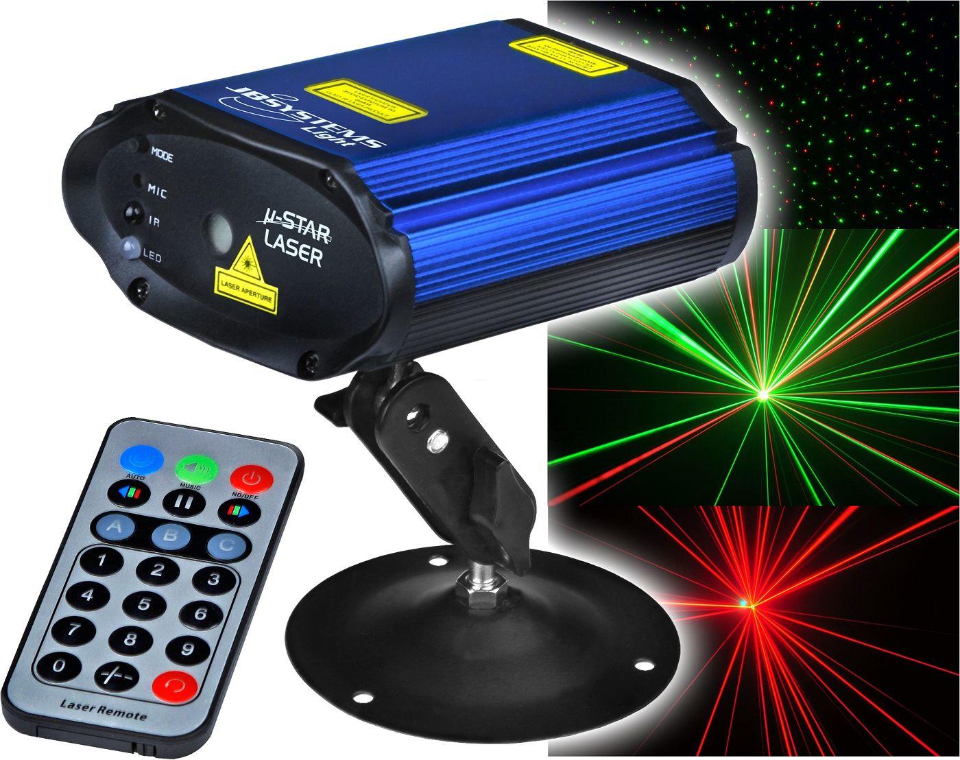 JB-Systems-Micro-Star-Show-Laser-Effekt-rot-gruen-mit-IR-Fernbedienung-NEU
