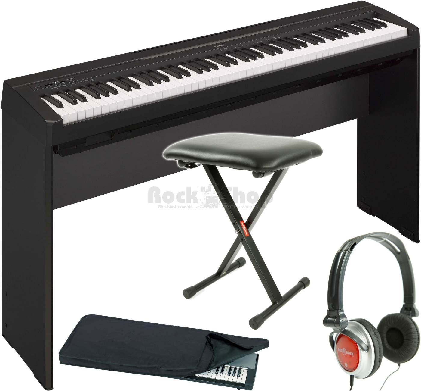 yamaha p 35 b schwarz digital e piano klavier l85 stativ. Black Bedroom Furniture Sets. Home Design Ideas