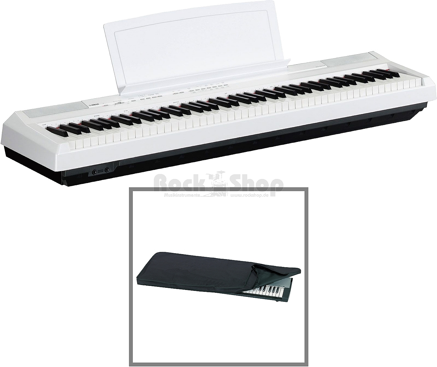 yamaha p 105 wh weiss digital piano e piano elektronisches. Black Bedroom Furniture Sets. Home Design Ideas