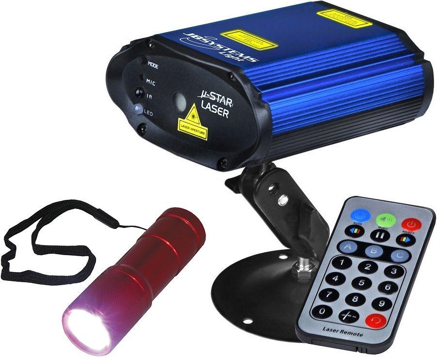 JB-Systems-Micro-Star-Show-Laser-Effekt-IR-Fernbedienung-LED-Taschenlampe
