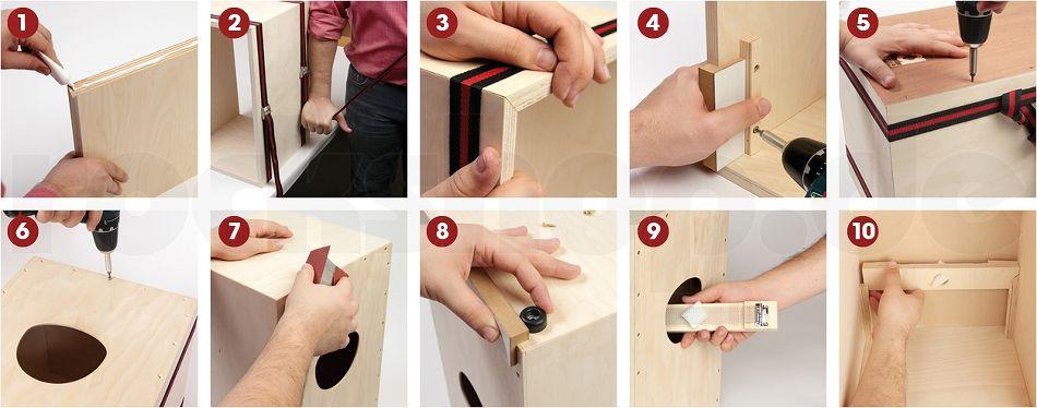 sela se001 cajon bausatz werkzeug cajon schule buch cd. Black Bedroom Furniture Sets. Home Design Ideas