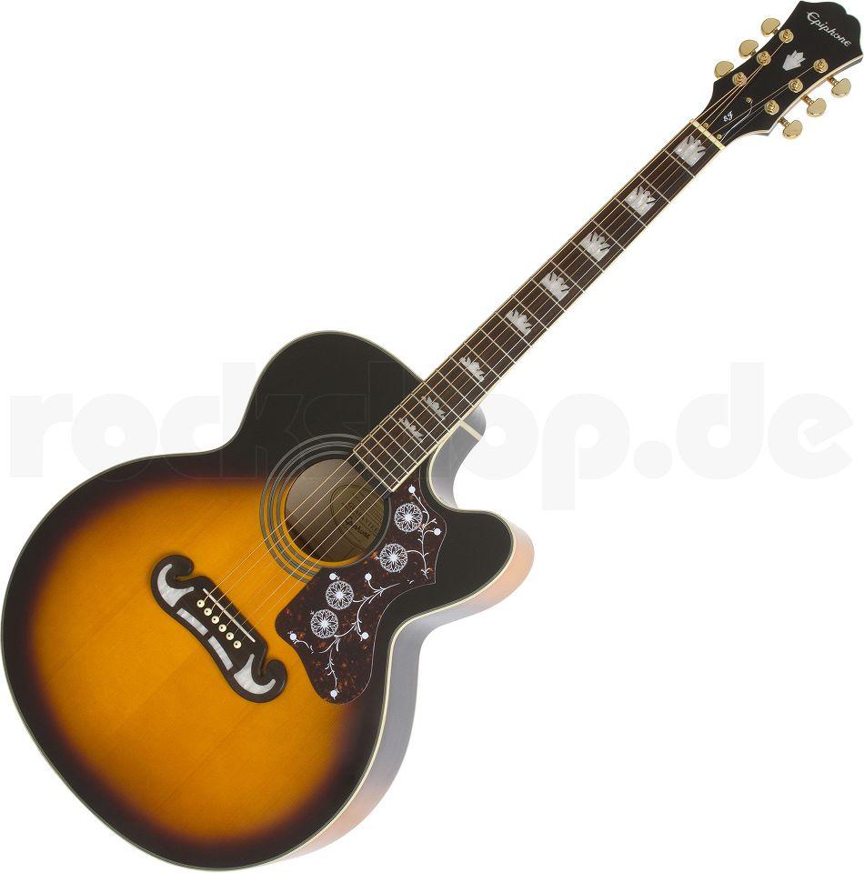 Epiphone EJ-200CE Elektro-Akustikgitarre, Vintage Sunburst