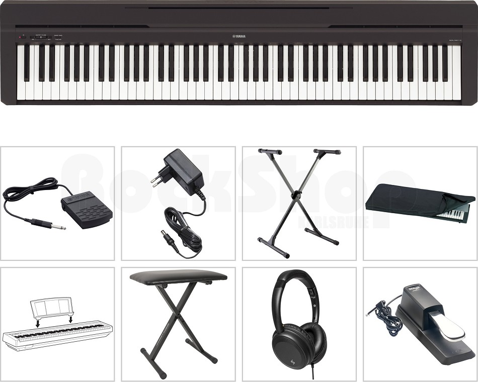 yamaha p 45 b digital e piano klavier super set mit x stativ sitz bank hocker ebay. Black Bedroom Furniture Sets. Home Design Ideas