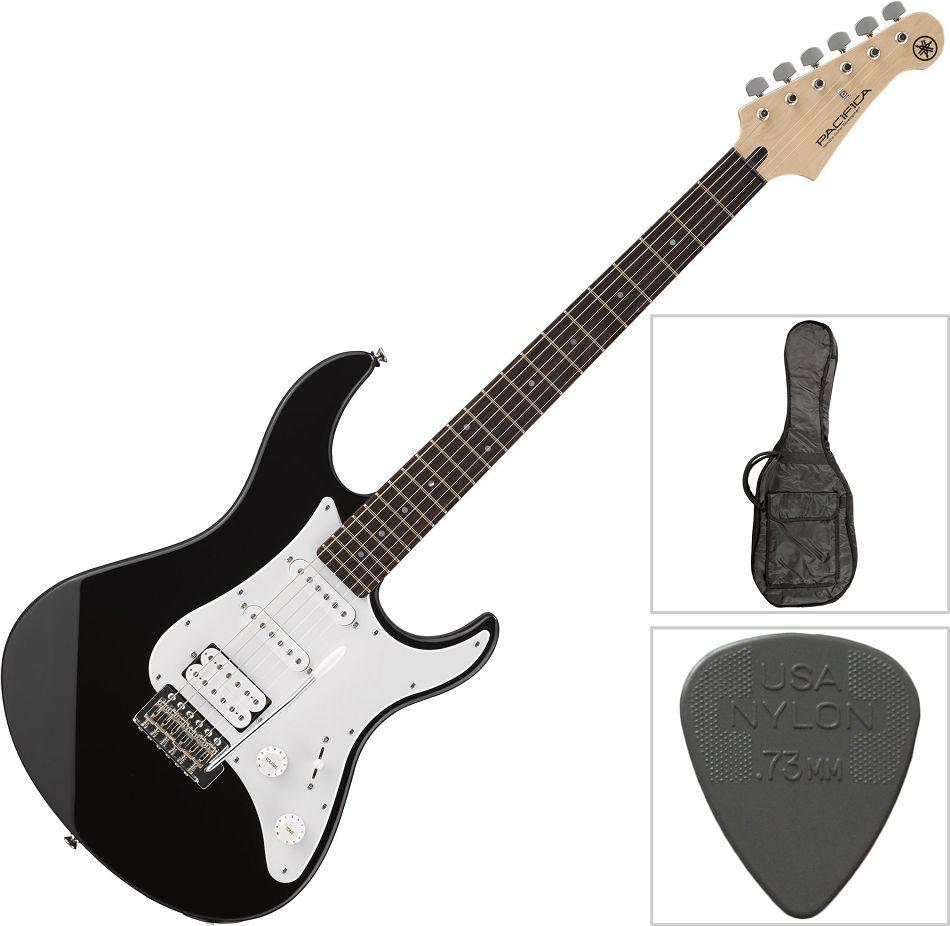 Yamaha Pacifica 012 Black E-Gitarre schwarz mit Gitarren Tasche + ...