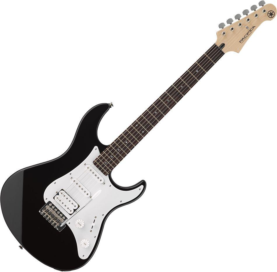 Yamaha Pacifica 012 Black E-Gitarre schwarz SET mit Gurt + Plektrum ...