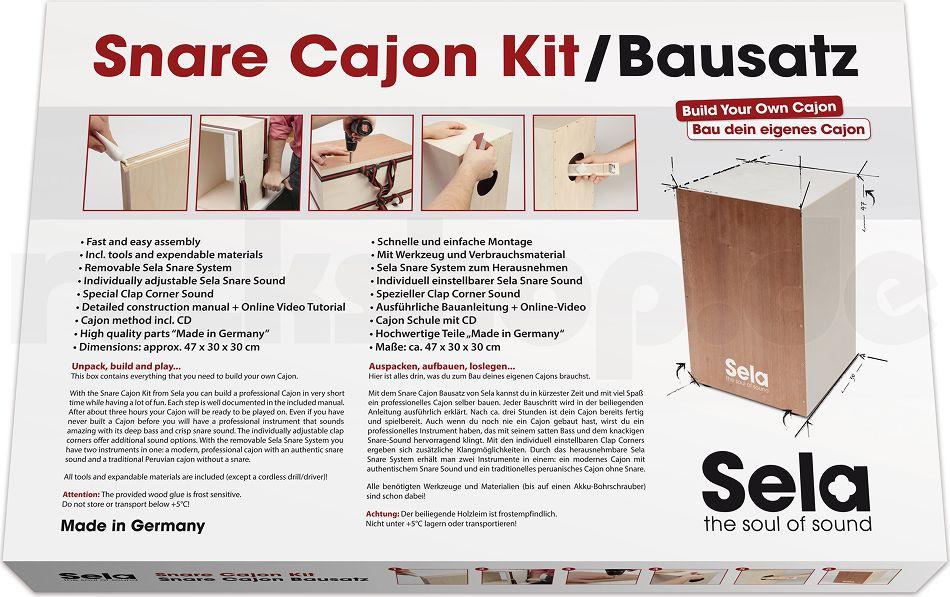 Sela Se001 Cajon Bausatz Werkzeug Cajon Schule Buch Cd Tasche