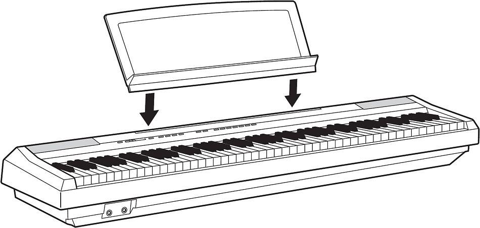yamaha p 115 b digital e piano klavier set mit x stativ. Black Bedroom Furniture Sets. Home Design Ideas