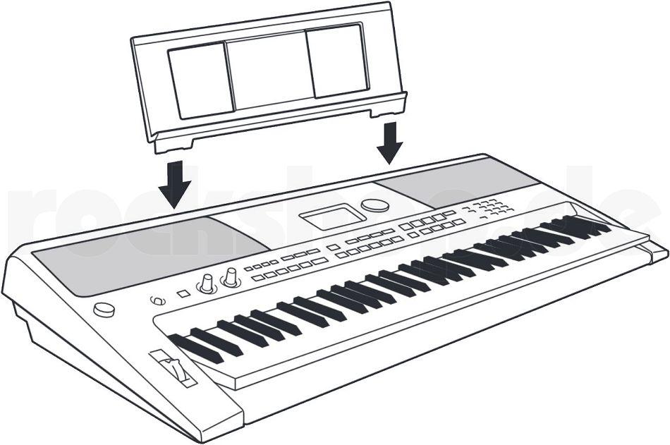 yamaha psr e 453 keyboard mit trage tasche notenpult. Black Bedroom Furniture Sets. Home Design Ideas